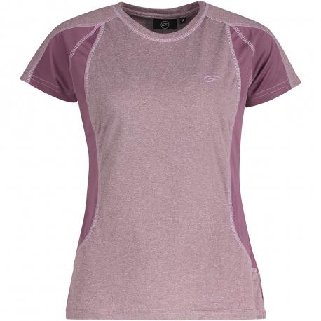 Dámske turistické tričko s krátkym rukávom FIVE SEASONS-AYA TOP W-PURPLE GUM MELANGE