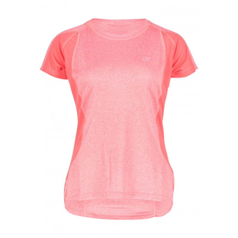 Dámske turistické tričko s krátkym rukávom FIVE SEASONS-AYA TOP W-TEABERRY MELANGE -