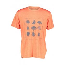 Pánske turistické tričko s krátkym rukávom FIVE SEASONS-ARCHIE TOP M-FLAME MELANGE