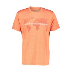 Pánske turistické tričko s krátkym rukávom FIVE SEASONS-ALTE TOP M-FLAME MELANGE
