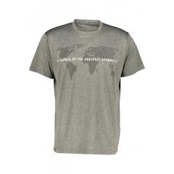 Pánske turistické tričko s krátkym rukávom FIVE SEASONS-ALTE TOP M-GRAPE LEAF MELANGE