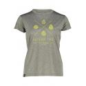 Dámske turistické tričko s krátkym rukávom FIVE SEASONS-AMILY TOP W-GRAPE LEAF MELANGE -