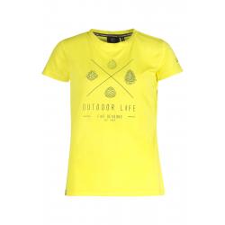 Dámske turistické tričko s krátkym rukávom FIVE SEASONS-AMILY TOP W-CITRON MELANGE