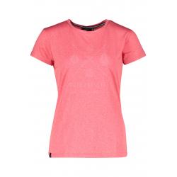 Dámske turistické tričko s krátkym rukávom FIVE SEASONS-AMILY TOP W-TEABERRY MELANGE