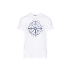 Pánske tričko s krátkym rukávom SAM73-Mens T-shirt s short sleeve-MTSR488000SM-White