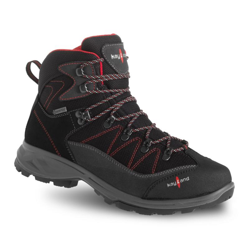Pánska turistická obuv stredná KAYLAND-ASCENT EVO GTX BLACK RED -
