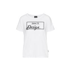 Dámske tričko s krátkym rukávom SAM73-Womens T-shirt s short sleeve-WT 803 000-White