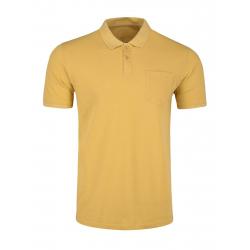 Pánské polo tričko s krátkým rukávem VOLCANO-T-VOLT-YELLOW MEL
