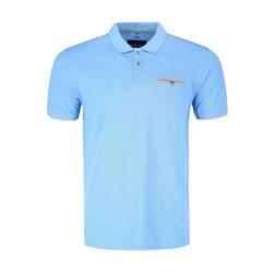Pánské polo tričko s krátkým rukávem VOLCANO-T-OSCAR-BLUE