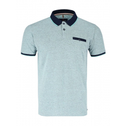 Pánske polo tričko s krátkym rukávom VOLCANO-T-ERIC-MINT MEL