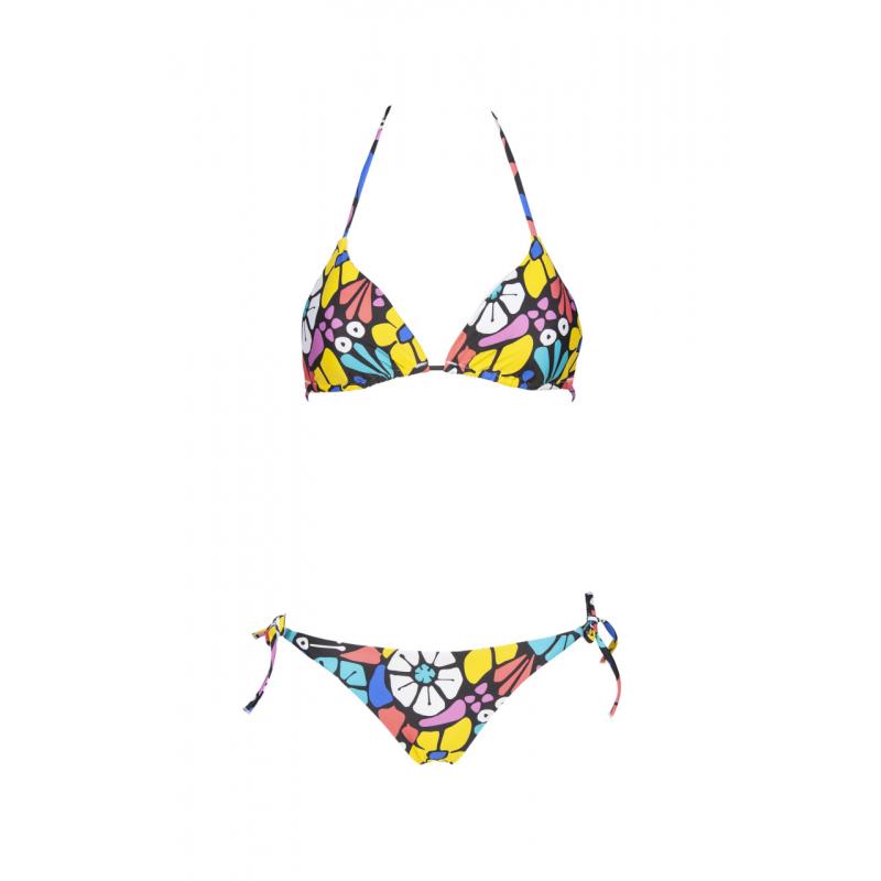 Dámske dvojdielne plavecké plavky ARENA-W ALLOVER TRIANGLE TWO PIECES Black -