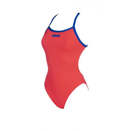 Dámske plavecké jednodielne plavky ARENA-W SOLID LIGHT TECH HIGH Red
