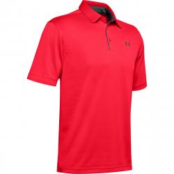 Pánské tréninkové polo tričko s krátkým rukávem UNDER ARMOUR-Tech Polo-RED 1290140-628