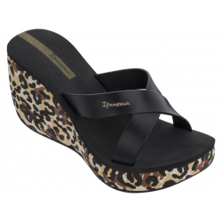 Dámska obuv k bazénu (plážová obuv) IPANEMA-Lipstick Straps VI Fem beige/black