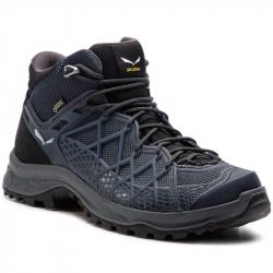 Pánska turistická obuv stredná SALEWA-Wild Hiker Mid GTX black out/silver