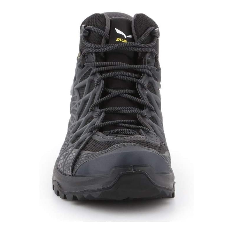 Pánska turistická obuv stredná SALEWA-Wild Hiker Mid GTX black out/silver -