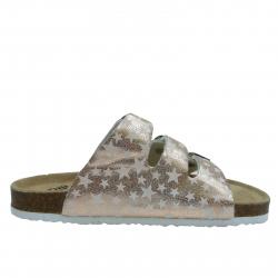 Dětské dřeváky (módní obuv) V + J-Sande gold