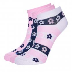 Ponožky AUTHORITY-ANKLE SOCKS 3PCK flower pink SS20