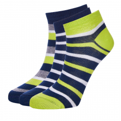 Ponožky AUTHORITY-ANKLE SOCKS 3PCK stripe fun SS20