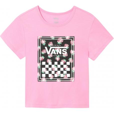 Dievčenské tričko s krátkym rukávom VANS-GR BOXED ROSE FUCHSIA PINK