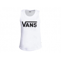 Dámske tričko bez rukávov VANS-WM FLYING V MUSCLE S White -