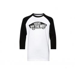 Chlapčenské tričko s dlhým rukávom VANS-BY OTW RAGLAN BOYS White/Black