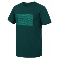 Pánské turistické tričko s krátkým rukávem HANNAH-CASTOR-evergreen