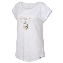 Dámské turistické tričko s krátkým rukávem HANNAH-ABBLE-bright white