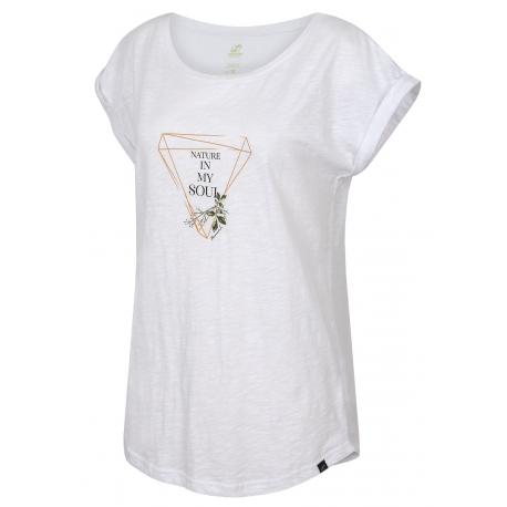Dámske turistické tričko s krátkym rukávom HANNAH-ABBLE-bright white