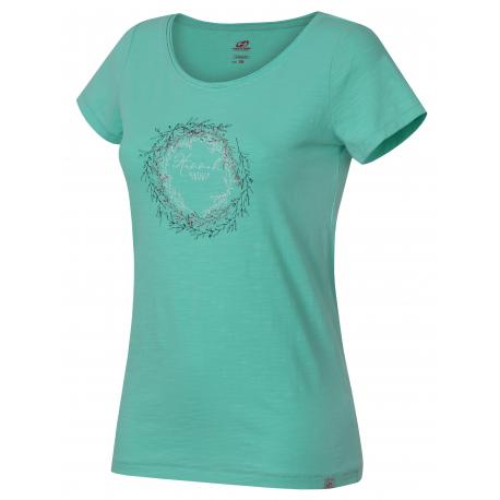 Dámske turistické tričko s krátkym rukávom HANNAH-KARMELA-ice green