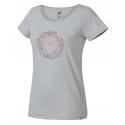 Dámske turistické tričko s krátkym rukávom HANNAH-KARMELA-glacier gray -