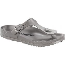 Dámské dřeváky (módní obuv) BIRKENSTOCK-Gizeh EVA Metallic Silver