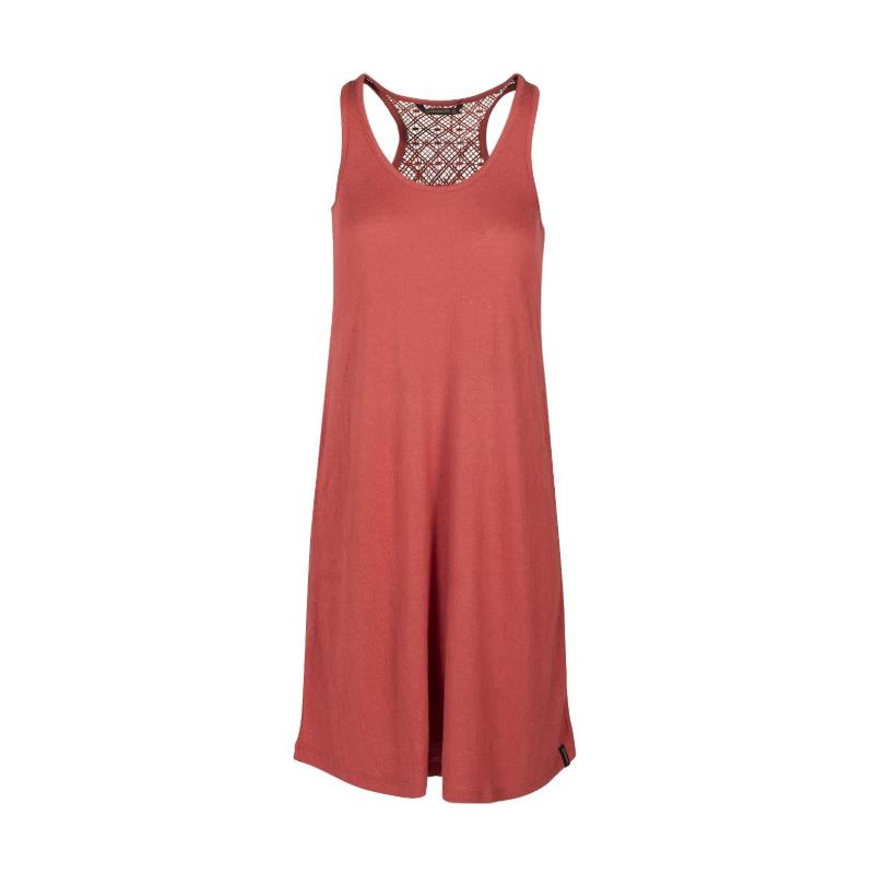 BRUNOTTI-Adi Women Dress-0256 Auburn Red Červená M