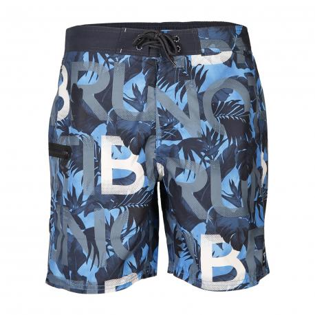 Pánske plavky BRUNOTTI-Frye-ZIP Mens Shorts-0470 Blue Wave