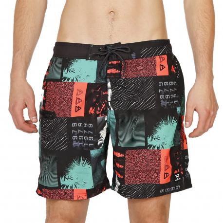 Pánske plavky BRUNOTTI-Frye-ZIP Mens Shorts-099 Black