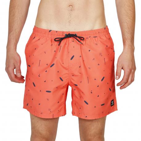 Pánske plavky BRUNOTTI-Tasker-Mini-AO Mens Shorts-0037 Bright Coral