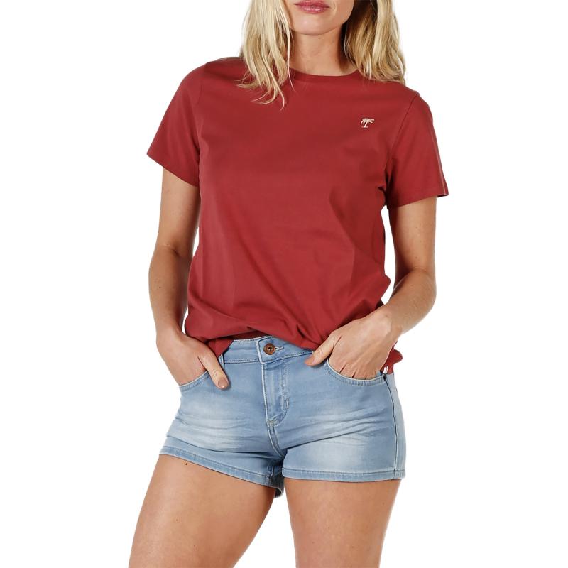 BRUNOTTI-Louhanne Women T-shirt-0256 Auburn Red Červená S