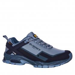 Pánska turistická obuv nízka EVERETT-Nebula grey