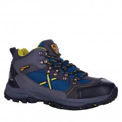 Dětská turistická obuv střední EVERETT-Rosbery grey / blue / neo
