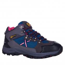 Detská turistická obuv stredná EVERETT-Rosbery grey/blue