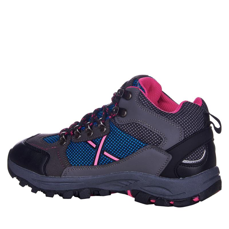 Detská turistická obuv stredná EVERETT-Rosbery grey/blue -
