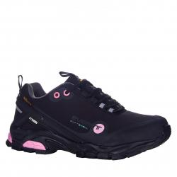 Dámska turistická obuv nízka EVERETT-Conara black/pink