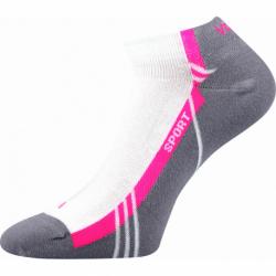Dámske bežecké ponožky VOXX-Pinas-white