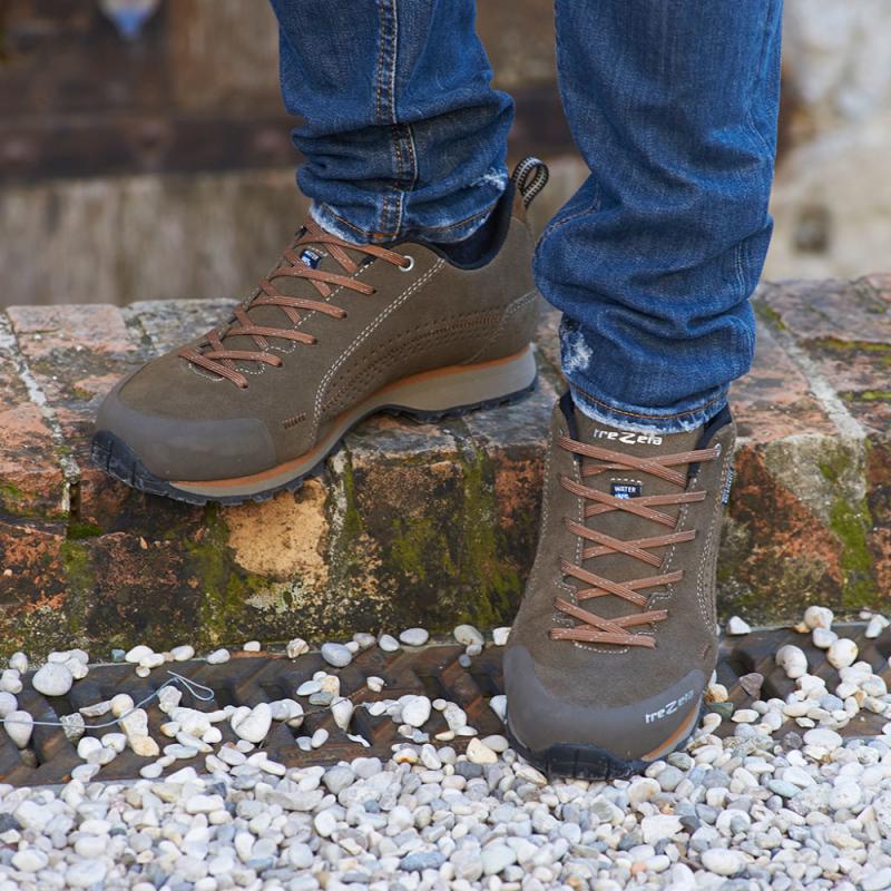 Pánska turistická obuv nízka TREZETA-FLOW EVO WP BROWN -