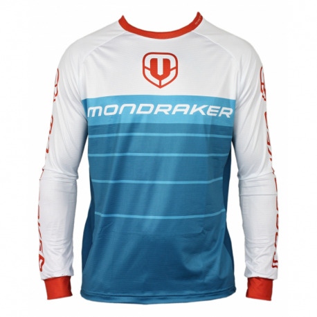 Cyklistický dres s dlhým rukávom MONDRAKER-Enduro/Trail Jersey long, petrol/white/red