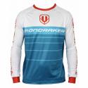 Cyklistický dres s dlhým rukávom MONDRAKER-Enduro/Trail Jersey long, petrol/white/red -