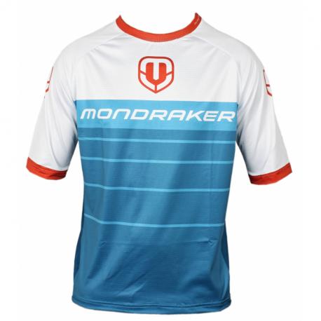 Cyklistický dres s krátkým rukávem Mondraker-Enduro / Trail Jersey short, petrol / white / red