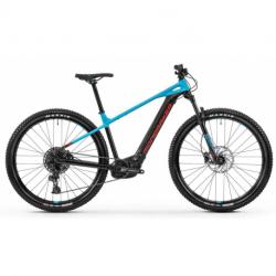Elektro bicykel MONDRAKER-MONDRAKER 010.20216 Prime 29, black/light blue/flame red