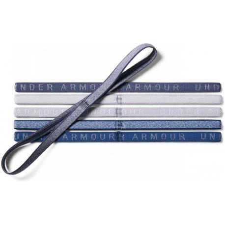 Dámska čelenka UNDER ARMOUR-UA Heather Mini Headband (6pk)-BLU 1311044-480