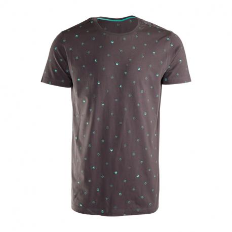 Pánske tričko s krátkym rukávom BRUNOTTI-Tim-Mini-AO Mens T-shirt-097-Titanium